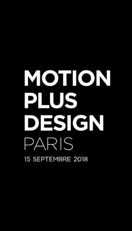 Motion Design Plus 2019 à Paris