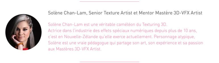 Portrait de Solène Cham Lan, Lead Texture et mentor pour le cursus 3D VFX de l'Institut Artline