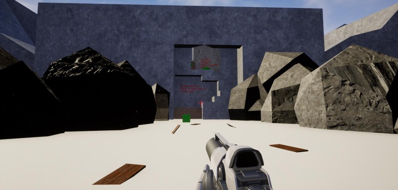 Travail sur une Map prototype sous l'Unreal Engine 3. Réalisation de Aurélien Matagne, Bachelor 3 Game Design